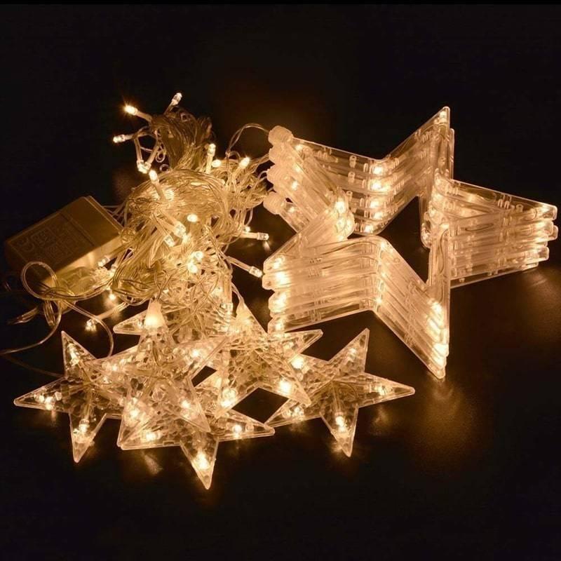 Новогодняя Светодиодная Гирлянда Штора Звездочки 3 Х 1 М -4565