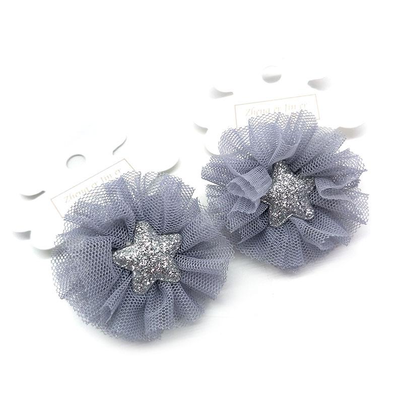 Комплект детских резинок для волос Банты в сетку со звездочкой
