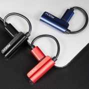 картинка Адаптер ROCK Metal Charge & Audio 2 in 1 Lightning + 3.5mm